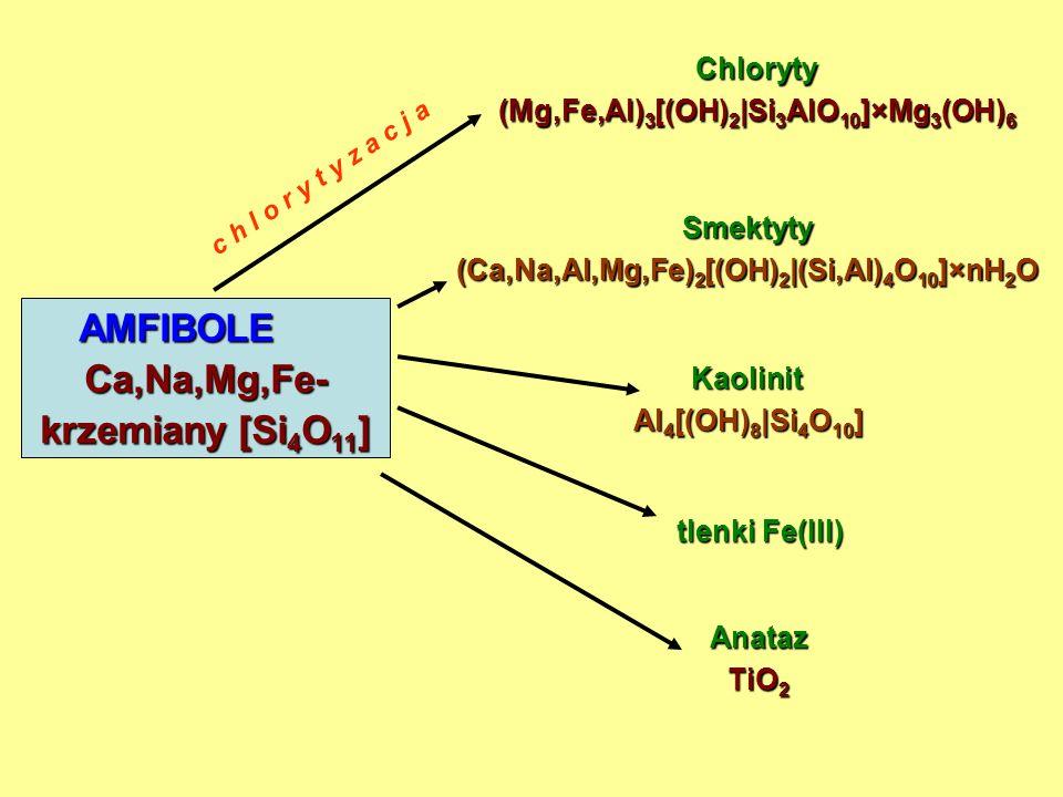 AMFIBOLE Ca,Na,Mg,Fe- krzemiany [Si4O11]